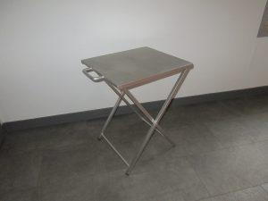 Table pliante inox