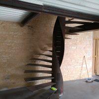 Escalier hélicoïdale style industriel