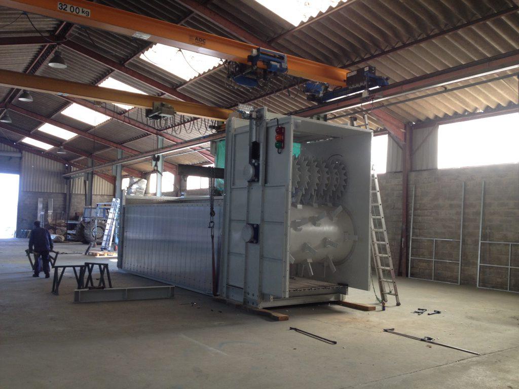 Tambour régulateur débit, plancher mouvant, centre de tri déchets ménagers,