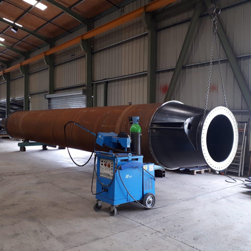 acier, ép. 12mm, lg 13 mètres
