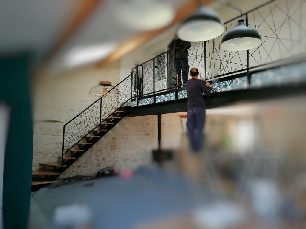 escalier-acier-bois