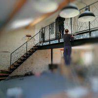 Escalier intérieur acier/bois